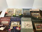Lot of 8 COUNTED CROSS STITCH PATTERNS Graphs by Barbara  Cheryl HOUSES