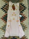 Free People anthropologie embroidered swim cover up dress NWT Small