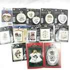 Lot of 13 Stitch N Hang Frame Counted Cross Stitch Kits NMI Holiday Time Nip