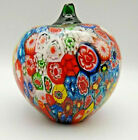 Murano Millefiori Apple paperweight With Foil Label