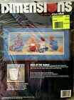 RARE Dimensions 1989 Kids at the Beach No Count Cross Stitch Kit No 3939