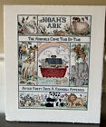 Completed Finished Cross Stitch Noahs Ark And Animals