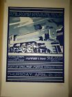 Mumford & Sons Chuck Sperry Railroad Revival Tour Screen Print Poster Signed