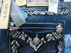 Grace in LA Womens Embroidery Easy Fit Jeans EB3266 Sz 30 x 335 new w tags
