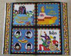 2008 OOP Beatles cotton fabric panel VIP by Cranston Print 4 designs RARE FIND