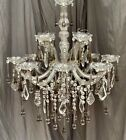 Vintage12 Light Maria Theresia Murano Crystal Chandelier