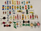 VINTAGE 60 MURANO ART GLASS WRAPPED HARD CANDY PIECES BLOWN GLASS COLORFUL