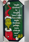 NEWDr Suess Designs GRINCH Stole Christmas Art Poster 12x24 Framed w Glass