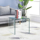 Glass End Side Table Small Coffee Table Nightstand Sofa Table Corner Table Clear