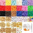 Round Polymer Clay Beads Kit Charms Spacer Beads Jewelry Making DIY Set Gifts
