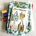 McCalls Easy Stitch  Save pattern M4905 Totes and Bags With Fabric For 3 Bags