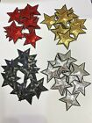 40pc set 15 Iron on Sequin Stars Patches Red Black Gold Silver