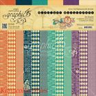 Graphic 45 Midnight Masquerade Double Sided Paper Pad Pattern  Solids 24 Pkg
