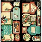 Graphic 45 Raining Cats  Dogs Cardstock Die Cuts Tags  Pockets