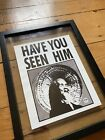 Vtg 80s Search Animal Chin Tony Hawk Signed Have Seen Him Poster 85 x 11 PSA