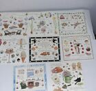 Susan Branch Stickers Lot 8 NEW Summer Flowers Fall Birthday Christmas Picnic