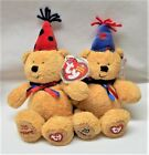 NWT 2 Ty Beanie Babies Baby Laughter and Fun 20 Years Bears Plush 2006