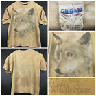 Gildan Adult 2XL XXL 52 in Chest The Mountain Brown Gray Wolf Graphic T Shirt
