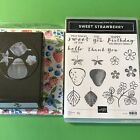 Stampin UP Sweet Strawberry Stamp Set  Matching Strawberry Builder Punch  DSP