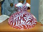 Fenton 10 Cranberry Opalescent Daisy and Fern Lamp Shade