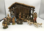 Vintage Nativity Set Manger And 13 Figurines Christmas Made In Italy 105 X 13