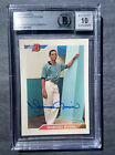 1992 Bowman Mariano Rivera rookie signed. NYY auto. BGS 10 Autograph Card NM-MT