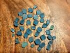 40 Ice Cubes Turquoise Sea Glass Surf Tumbled