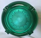 Vintage Ashtray Green Glass round 65 wide