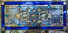 Stained Glass Transom window hanging 32 X 15 incl hooks