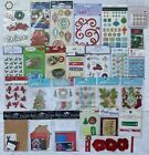 Christmas Scrapbooking Stickers  Embellishments Large Lot of 27 Jolees  More