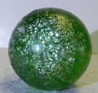 13792m Huge 163 Inches German Handmade Green Glass Mica Blizzard Marble