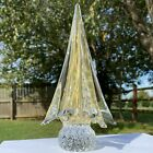 Vintage Murano Glass Clear Gold Dust Christmas Tree Rare Unique Quality Vtg