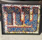 Rare NFL Aaron Foster License Plate Art 2014 NY Super Bowl Committee NFL Giants