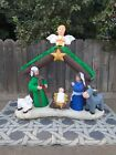 7 Lighted Holy Nativity Scene Christmas Airblown Inflatable Gemmy