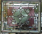 Stained Glass window hanging 27 X 22 1 2 including hooks