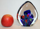Vintage Murano Large Art Glass Aquarium Paperweight Coral and Fishes Design 13cm