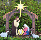 Christmas Holy Family Nativity Scene Stable Outdoor Yard Decor Lawn Decoration