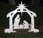 Christmas Holy Family Nativity Scene Stable Outdoor Lawn Decor Yard Decoration