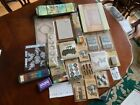 Tim Holtz Idea ology LOT Alpha Cards Tokens Knobs Accoutrements labels stick