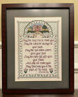 Vintage Finished Cross Stitch Irish Blessing Completed Framed