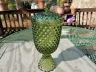 Fenton Glass Hobnail Colonial Green Rare Tall Footed Urn Covered Bowl