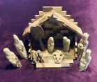 Nativity Set Made from Olive Wood 10pcs + Stable + cross