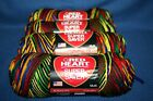 Lot of 4 Red Heart Super Saver Variegated Yarn  Mexicana  244 Yards Each