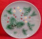 GM219,VINTAGE GERMAN MAJOLICA STRAWBERRY PLATE ZELL