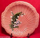 ANTIQUE GERMAN MAJOLICA TRAY BOWL LILY OF THE VALLEY, gm544