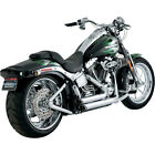 Vance  Hines Chrome Shortshots Staggered Exhaust System for Harley Softail