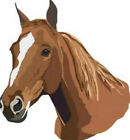 20 water slide nai art transfer decals Brown horse 5/8 inch trending