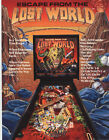 1988 BALLY MIDWAY ESCAPE FROM THE LOST WORLD PINBALL FLYER