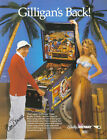 1991 BALLY MIDWAY GILLIGAN'S ISLAND PINBALL FLYER MINT