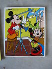 Vintage Playskool Mickey Mouse Wood Frame Tray Puzzle